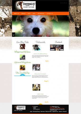 Doggonit Daycare - built with WordPress. About dogs. For people.