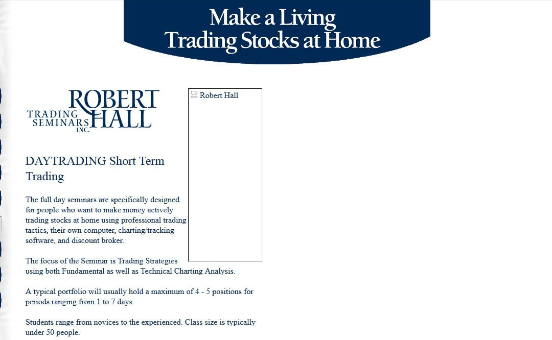 Robert Hall Trading Seminars