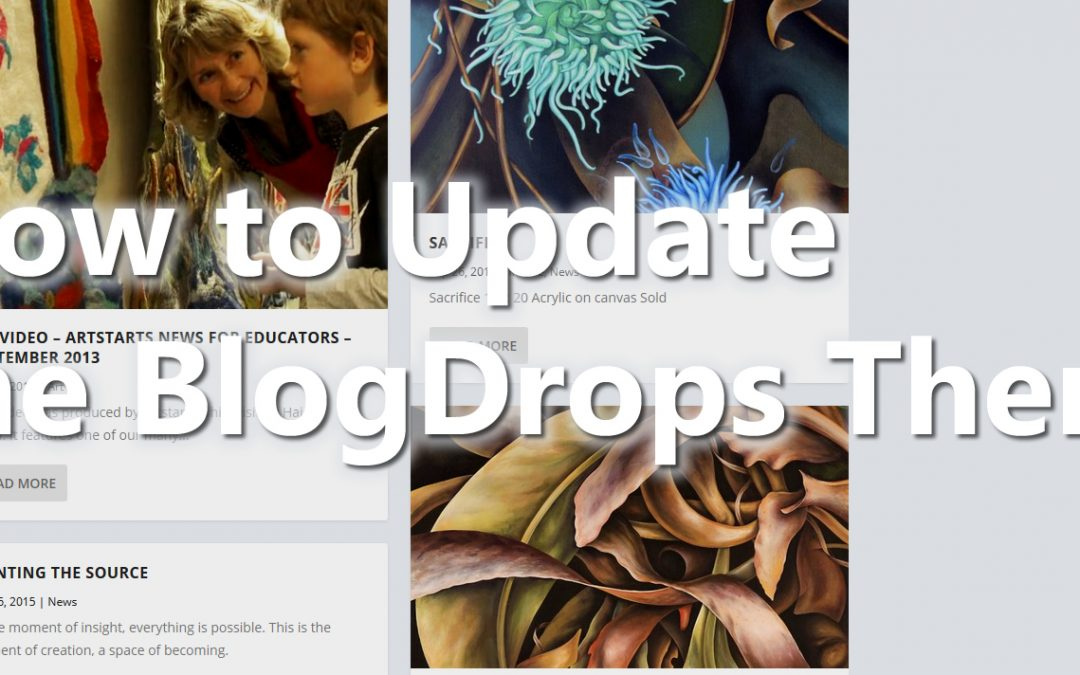 How To Update The Blogdrops Theme